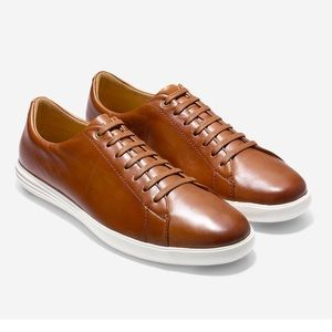 Men's Grand Crosscourt II Tan Leather Sneaker